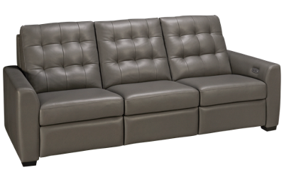 American Leather A Series Leather Dual Power Sofa Recliner with Tilt Headrest