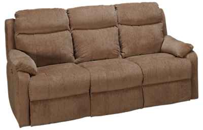 Klaussner Home Furnishings Solitaire Dual Power Sofa Recliner with Tilt Headrest