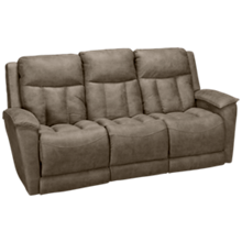 Klaussner Home Furnishings Clifford Power Sofa Recliner with Tilt Headrest and Lumbar