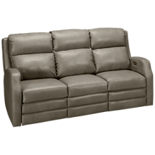 Klaussner Home Furnishings Kamiah Leather Power Sofa Recliner with Tilt Headrest and Lumbar