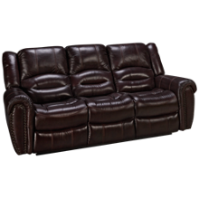 Flexsteel Crosstown Leather Power Sofa Recliner with Power Headrest