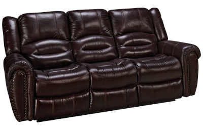 Flexsteel Crosstown Leather Power Sofa Recliner with Tilt Headrest