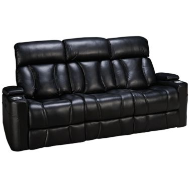 Synergy Barrington Leather Power Sofa Recliner with Lumbar and Headrest