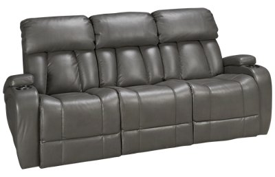 Synergy  Jamestown Power Sofa Recliner with Console and Power Tilt Headrest