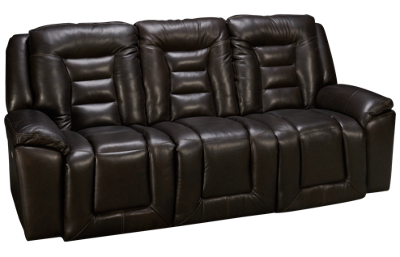 Southern Motion Grid Iron Leather Power Sofa Recliner with Tilt Headrest