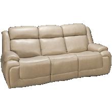 Man Wah Norton Leather Power Sofa Recliner with Tilt Headerst