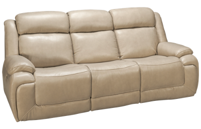 Man Wah Norton Leather Power Sofa Recliner with Tilt Headerst