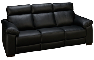Natuzzi Editions Estremo Leather Power Sofa Recliner with Tilt Headrest