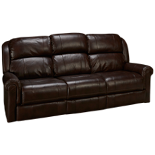 Synergy Palermo Leather Power Sofa Recliner with Tray and Power Tilt Headrest