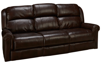 Synergy Palermo Leather Power Sofa Recliner with Tray and Tilt Headrest
