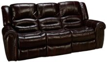 Flexsteel Crosstown Leather Power Sofa Recliner