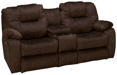 Southern Motion Avalon Power Sofa Recliner with Tilt Headrest and Console