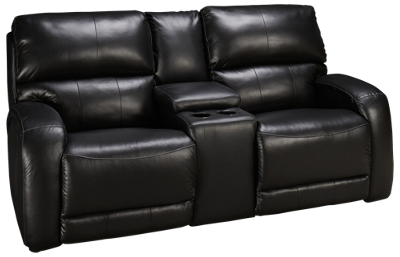 Southern Motion Fandango Leather Power Sofa Recliner with Console
