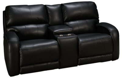 Southern Motion Fandango Leather Dual Power Sofa Recliner with Console
