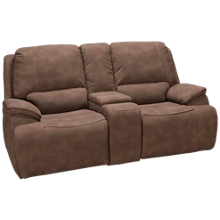 Man Wah Hampton Power Sofa Recliner with Tilt Headrest and Console