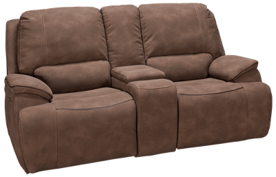 Man Wah Hampton Power Sofa Recliner with Tilt Headrest and Console