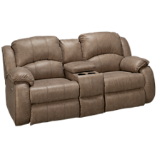 Southern Motion River Run Power Sofa Recliner with Console and Headrest