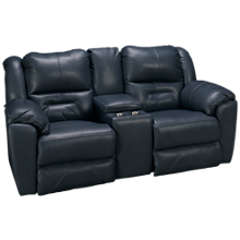 Southern Motion Pandora Leather Power Sofa Recliner with Console and Tilt Headrest