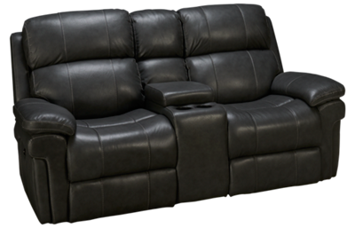 Synergy Seville Leather Dual Power Loveseat Recliner with