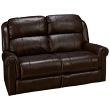 Synergy Palermo Leather Power Loveseat Recliner with Power Tilt Headrest