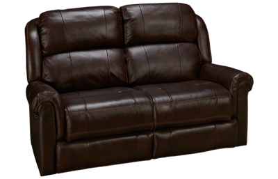Synergy Palermo Leather Power Loveseat Recliner with Tilt Headrest