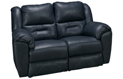Southern Motion Pandora Leather Power Loveseat Recliner with Tilt Headrest