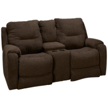 Southern Motion Royal Flush Power Loveseat Recliner with Console