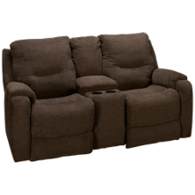 Southern Motion Royal Flush Loveseat Recliner with Console