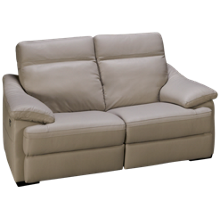 Natuzzi Editions Giotto Leather Power Loveseat Recliner with Tilt Headrest and Lumbar