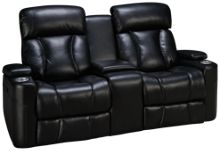 Synergy Barrington Leather Power Loveseat Recliner with Console,Lumbar and Headrest