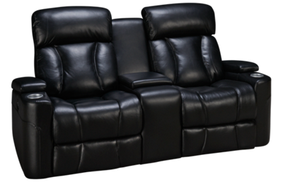 Synergy Barrington Leather Power Loveseat Recliner with