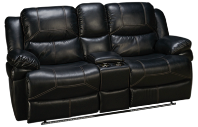 New Classic Home Furnishings Flynn Dual Power Loveseat Recliner with Console