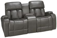 Synergy Jamestown Power Loveseat Recliner with Console and Power Tilt Headrest