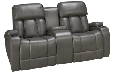 Synergy Jamestown Power Loveseat Recliner with Tilt Headrest and Console