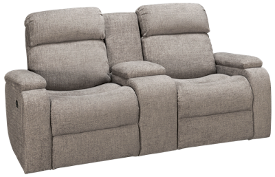 Synergy Austin Dual Power Loveseat Recliner with Headrest
