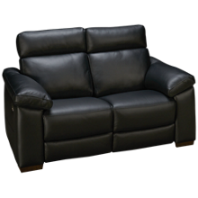 Natuzzi Editions Estremo Leather Power Loveseat Recliner with Tilt Heardrest