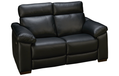 Natuzzi Editions Estremo Leather Power Loveseat Recliner with