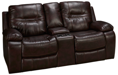 Mstar International Shafa Loveseat Recliner with Console