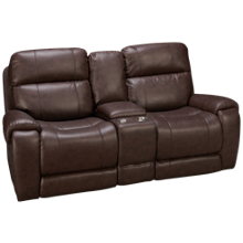 Synergy Manchester Loveseat Recliner with Console