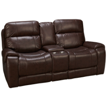 Synergy Manchester Power Loveseat Recliner with Console