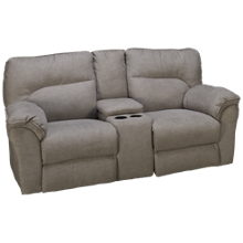 Southern Motion Full Ride Power Loveseat Recliner with Headrest and Console