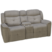 New Classic Home Furnishings Havana Loveseat Recliner with Console