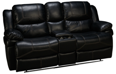 New Classic Home Furnishings Flynn Loveseat Recliner with Console