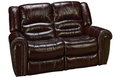 Flexsteel Crosstown Leather Power Loveseat Recliner