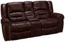 Flexsteel Downtown Gliding Loveseat Recliner with Console