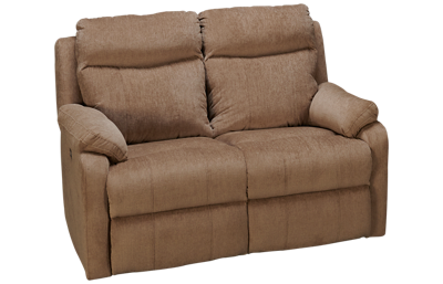Klaussner Home Furnishings Solitaire Dual Power Loveseat Recliner with Tilt Headrest