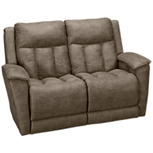 Klaussner Home Furnishings Clifford Power Loveseat Recliner with Tilt Headrest and Lumbar