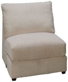 United Luxe Tan Armless Chair