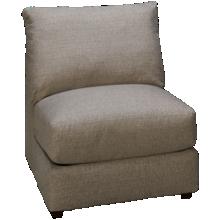 United Luxe Fog Armless Chair