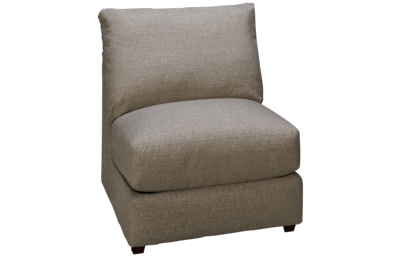 United Luxe Fog Armless Chair